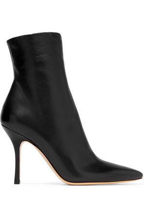 The Row | Gloria leather ankle boots | NET-A-PORTER.COM