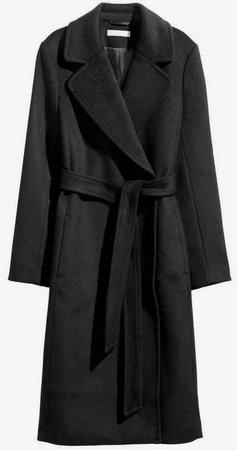 h & m black trench coat h&m wrap camel
