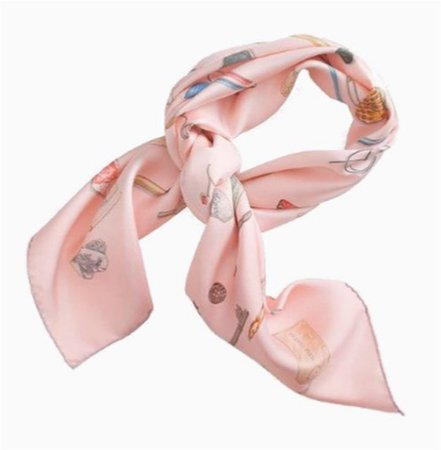 pink patterned scarf png
