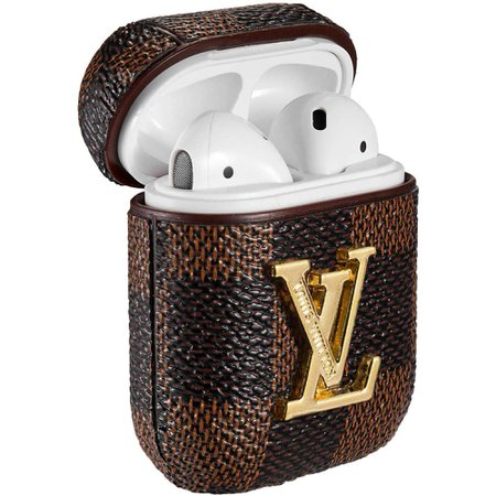 AirPods Case Protective Cover Leather Silicone 3D Luxury Classic Design Cover Compatible with Apple AirPods 1 & 2 (#1) - Walmart.com - Walmart.com