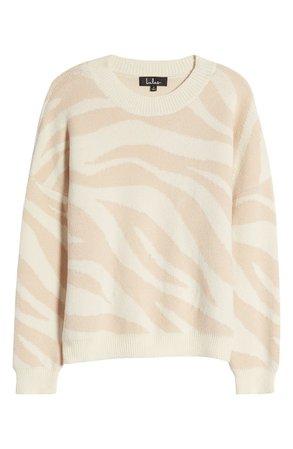 Lulus Tonal Zebra Pattern Pullover | Nordstrom