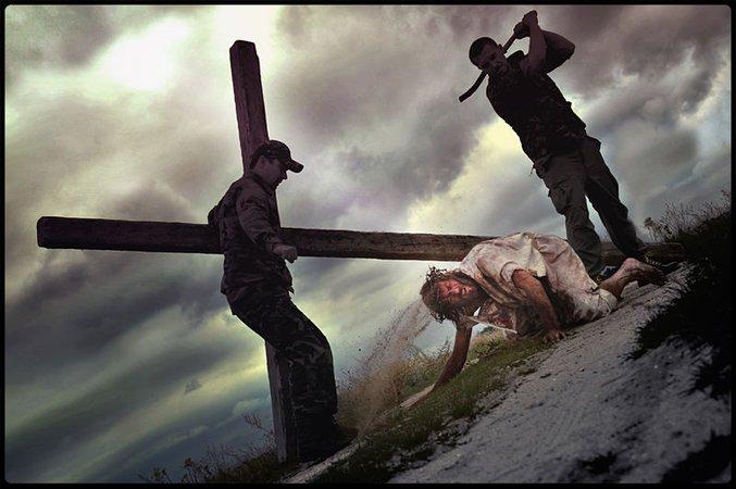 Jesus falls the third time - Lukacs Janiczky-Wojntcak