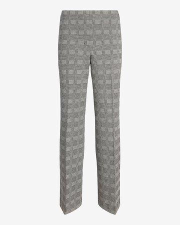 Mid Rise Plaid Trouser Pant | Express