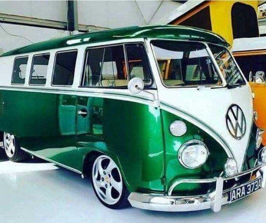 metallic green Volkswagen