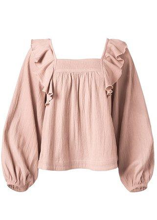 Ruffle Blouse in Light Pink | VENUS
