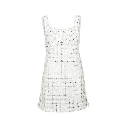 Authentic Pre Owned Chanel Tweed Overall Mini Dress (PSS-240-00205) | THE FIFTH COLLECTION®