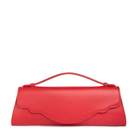 Audrey Evening Clutch In Red   Thale Blanc   Wolf & Badger