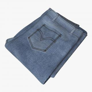 3D Jeans Folded Black model | 3D Molier International