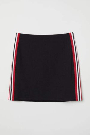 Short Jersey Skirt - Black