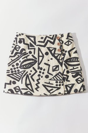 UO Parry Printed Wrap Mini Skirt | Urban Outfitters