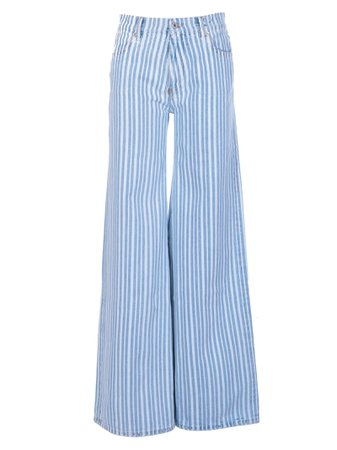 Off-white Striped Flared Jeans