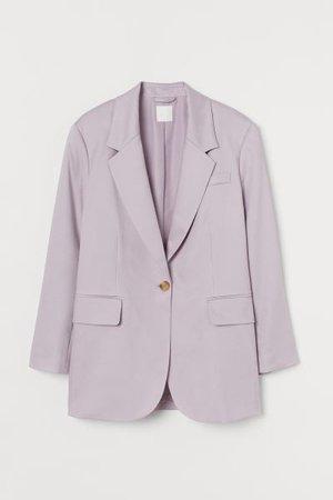 Oversized Lyocell-blend Blazer - Light purple - Ladies   H&M US