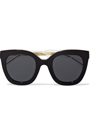 Gucci | Oversized cat-eye acetate sunglasses | NET-A-PORTER.COM