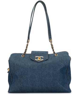 Chanel Pre-Owned 1997 Pre-Owned Cc Super Model Chain Bag Vintage | Farfetch.Com