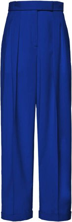 Boontheshop Collection Pintucked Wool Wide-Leg Pants