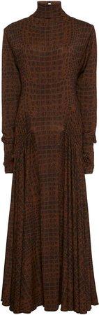 Long Sleeve Matte Jersey Dress