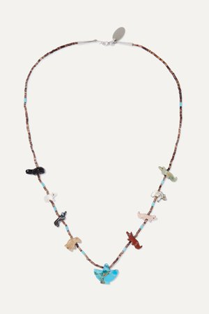 Turquoise Power Animal multi-stone necklace | Jessie Western | NET-A-PORTER