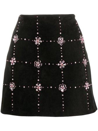 Miu Miu Embellished Mini Skirt - Farfetch