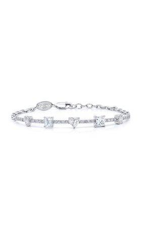 Fancy Cut Diamond 18K White Gold Bracelet by Mindi Mond | Moda Operandi