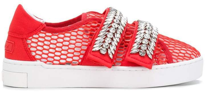 Suecomma Bonnie crystal-embellished sneakers