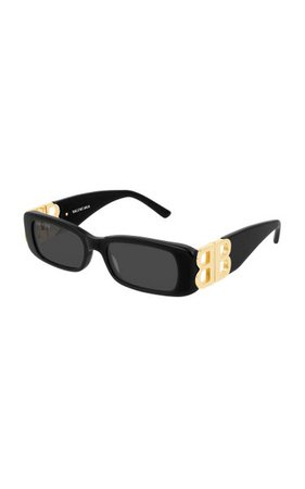 Dynasty Square-Frame Acetate Sunglasses By Balenciaga   Moda Operandi