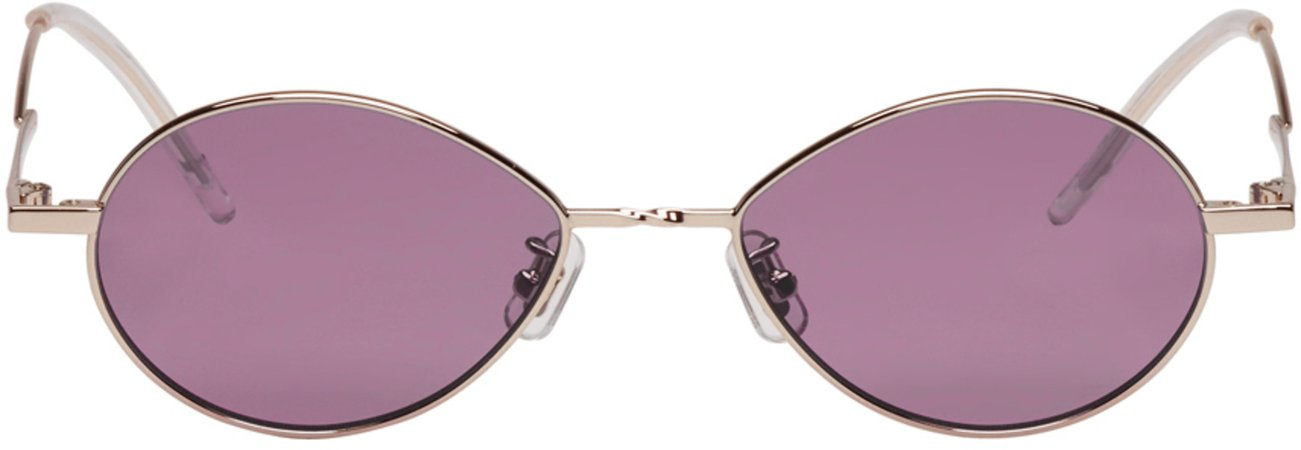 Gentle Monster  Silver & Purple Cobalt Sunglasses €285 EUR