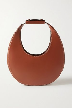 Tan Moon leather tote   STAUD   NET-A-PORTER