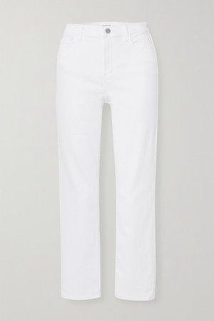 Alma High-rise Straight-leg Jeans - White