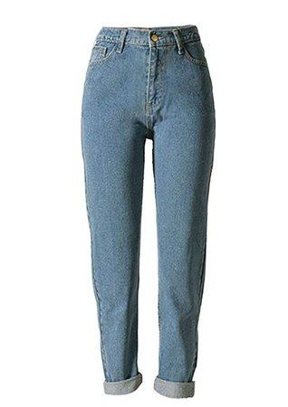 ECHOINE Women's Jeans High Waist Loose Fit Straight Leg Jeans Boyfriend Denim Pant at Amazon Women's Jeans store