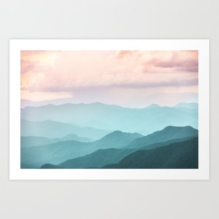 Smoky Mountain National Park Sunset Layers II - Nature Photography Art Print by cascadia | Society6