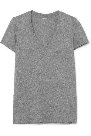 Madewell   Whisper slub cotton-jersey T-shirt   NET-A-PORTER.COM