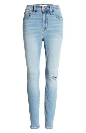 Madewell Curvy Roadtripper Authentic Ripped Skinny Jeans (Benton) | Nordstrom