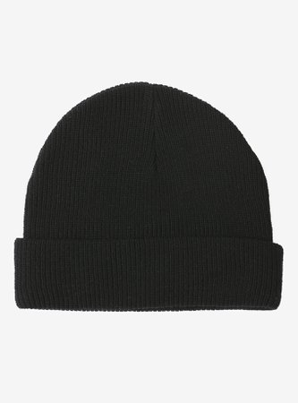 *clipped by @luci-her* Basic Black Cuffed Beanie
