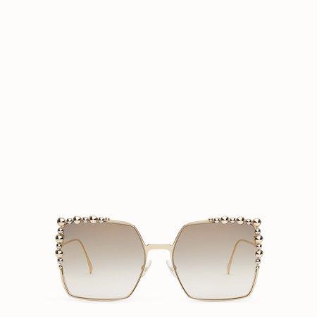 Gold-colored sunglasses - CAN EYE | Fendi