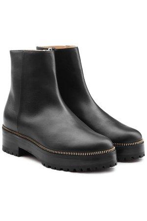 Embellished Leather Platform Ankle Boots Gr. IT 38