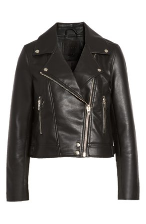 BLANKNYC Good Vibes Faux Leather Moto Jacket   Nordstrom