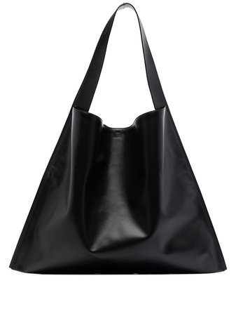 Black Jil Sander oversized tote bag JSPR852397WRB00016 - Farfetch