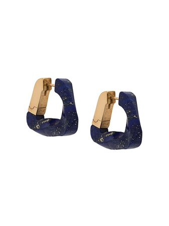 Bottega Veneta Twisted Triangle Hoop Earrings - Farfetch