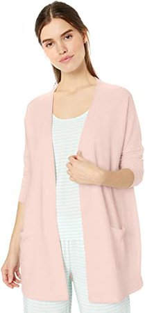 Amazon.com: Amazon Essentials Women's Relaxed Fit Lightweight Lounge Terry Open-Front Cardigan: Clothing