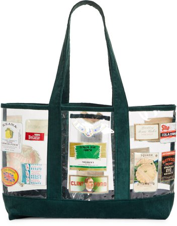 One of a Kind Clear Corduroy Tote