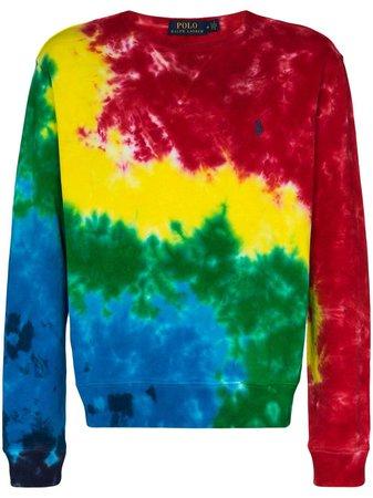 Polo Ralph Lauren tie-dye long-sleeve Sweatshirt - Farfetch