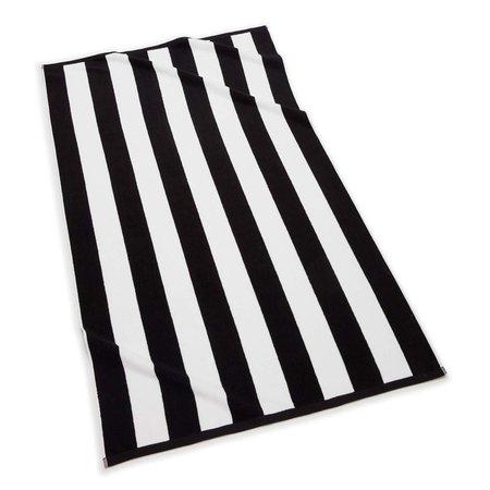 Black and white beach towel
