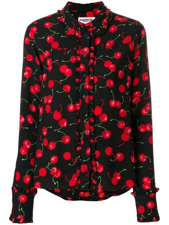 Essentiel Antwerp Cherry Print Shirt
