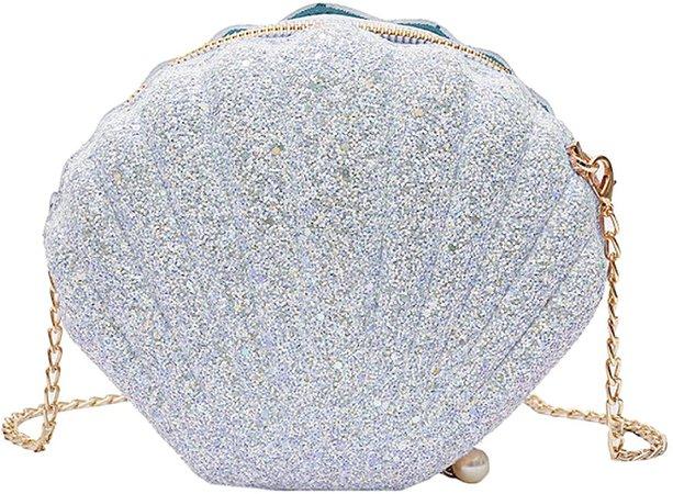 Felice Women Girls Little Mermaid Seashell Purse Cross-body Shoulder Bags Glitter Sequins Chain Evening Purse: Handbags: Amazon.com