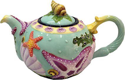 Blue Sky Ceramic Star Fish Teapot, 8 x 6 x 9.5: Amazon.ca: Home & Kitchen