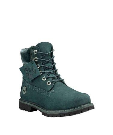 Timberland Women's 6-in Premium Waterproof Boot in Dark Green | Vevey Shoes