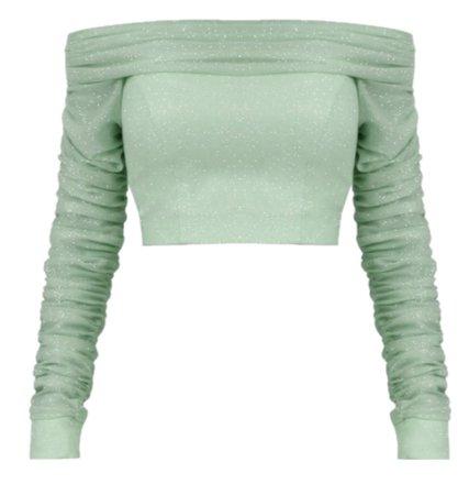 Green Crop Sweater