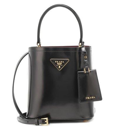 Prada - Panier Small leather shoulder bag | Mytheresa