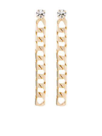 Rosantica Crystal Detail Chain Drop Earrings - Farfetch