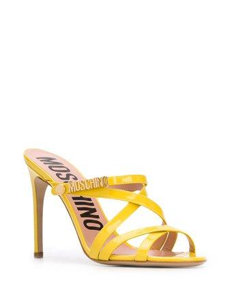 Moschino Logo Strappy Sandals | Farfetch.com